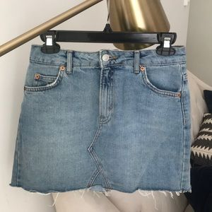 Top Shop denim mini skirt